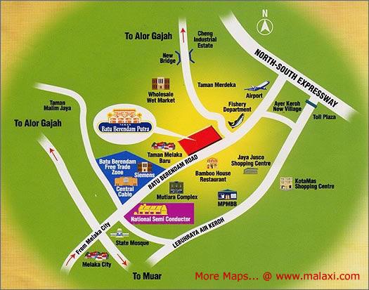 Map Melaka