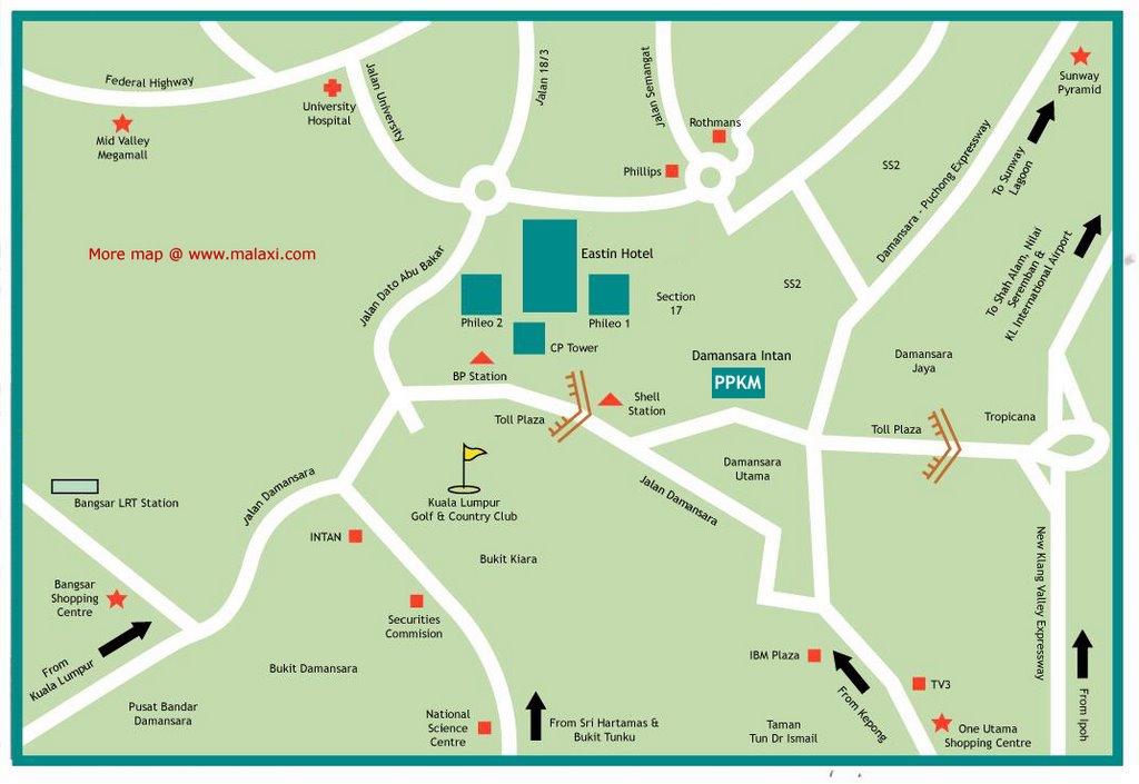 Damansara Utama Malaysia  city images : ... and Malaysia Map Information collection: Damansara Intan Location Map