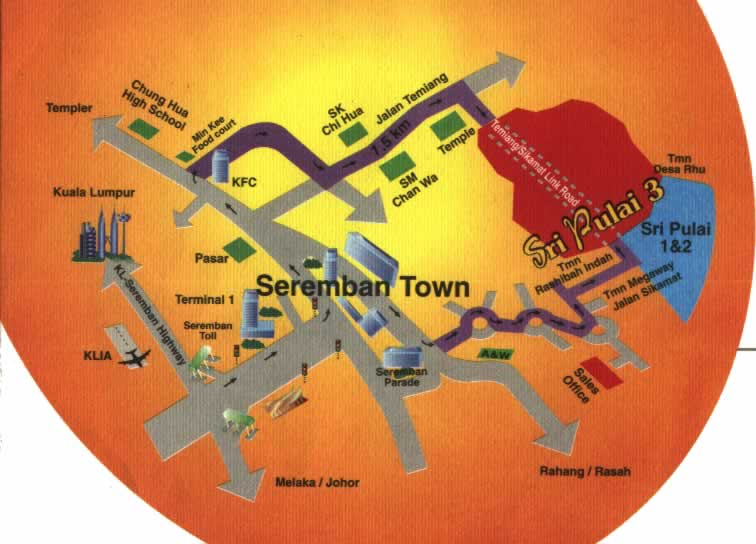Seremban Town Map City map Street map direction map location map