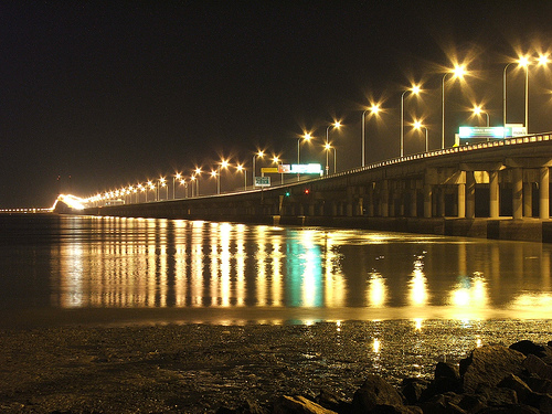 Night View Penang Bridge