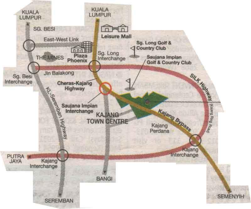Kajang, City map, Street map, direction map, location map ...